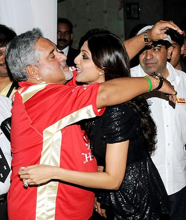 Vijay Mallya with Shilpa Shetty