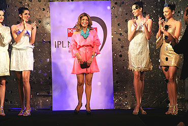 Ramona Narang takes a bow at the end of her fashion show