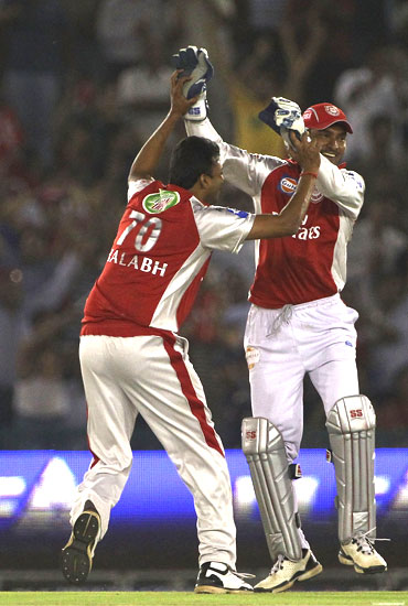 Shalab Srivastava celebrates after picking up Gayle