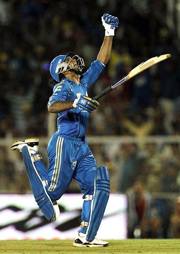 R Sathish celebrates victory