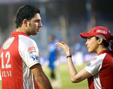 Preity Zinta with Yuvraj Singh
