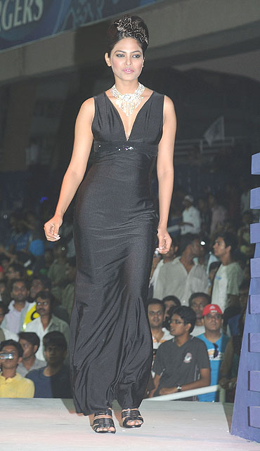 A model walks the ramp during a fashion show by fashion show by Gitanjali and Pantaloons