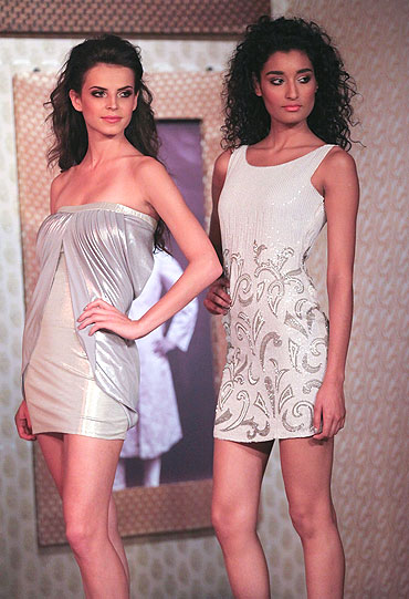 Models wear Vikram Phadnis's latest designs