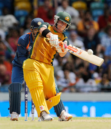 David Warner hits one out of the park