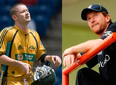 Michael Clarke and Paul Collingwood