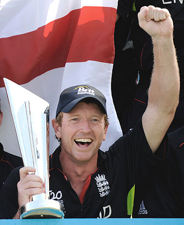 Paul Collingwood after winning the World T20 championship on Sunday