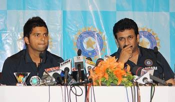 Suresh Raina and GVK Ranga Raju