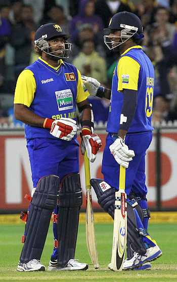 Angelo Mathews and Lasith Malinga