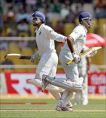 Harbhajan Singh and VVS Laxman