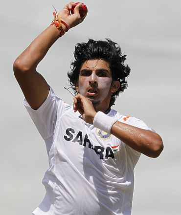 Ishant Sharma during a practice session
