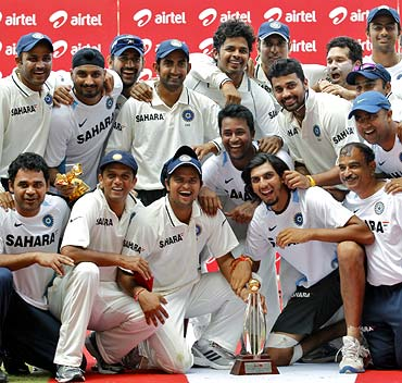 Team India celebrate