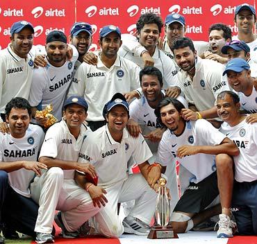 Team India celebrate