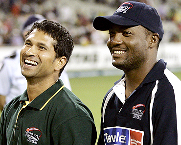 Brian Lara and Sachin Tendulkar