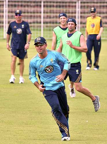 Ricky Ponting during a practice session