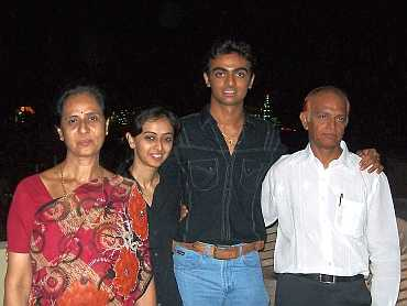 Jaydev Undakat with his family