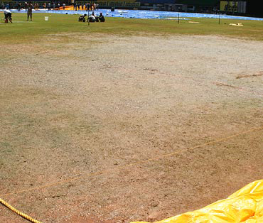 A look at the pitch on the eve of the first ODI at Kochi