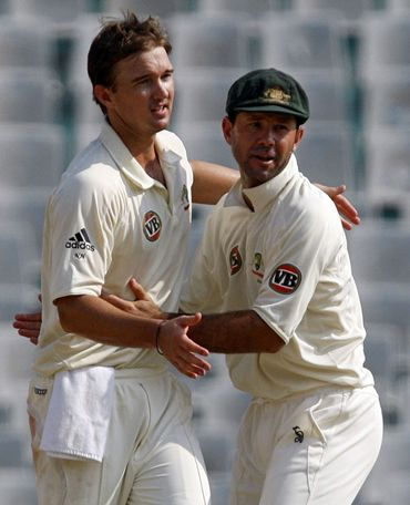 Ricky Ponting and Nathan Hauritz