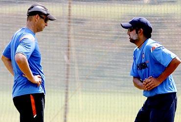 Gautam Gambhir (right) with Gary Kirsten
