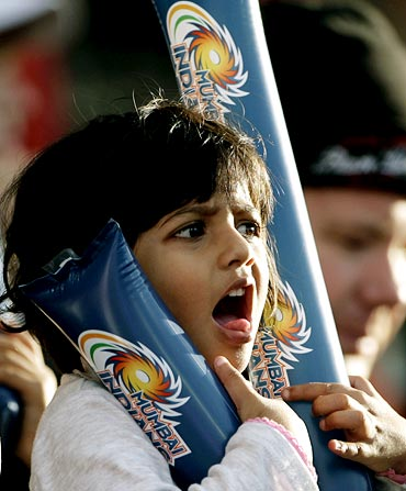 A young fan enjoys the IPL