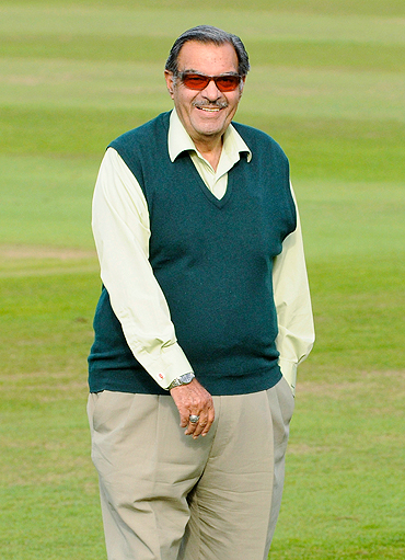 Pakistan manager Yawar Saeed before the match against Somerset on Thursday