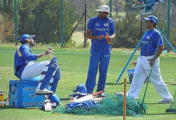 Zaheer Khan, Harbhajan Singh and Sachin Tendulkar