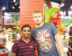 Flintoff in Dubai