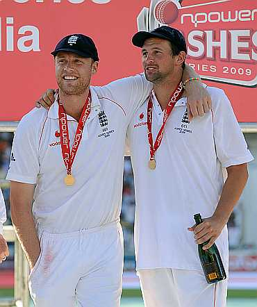 Andrew Flintoff and Steven Harmison