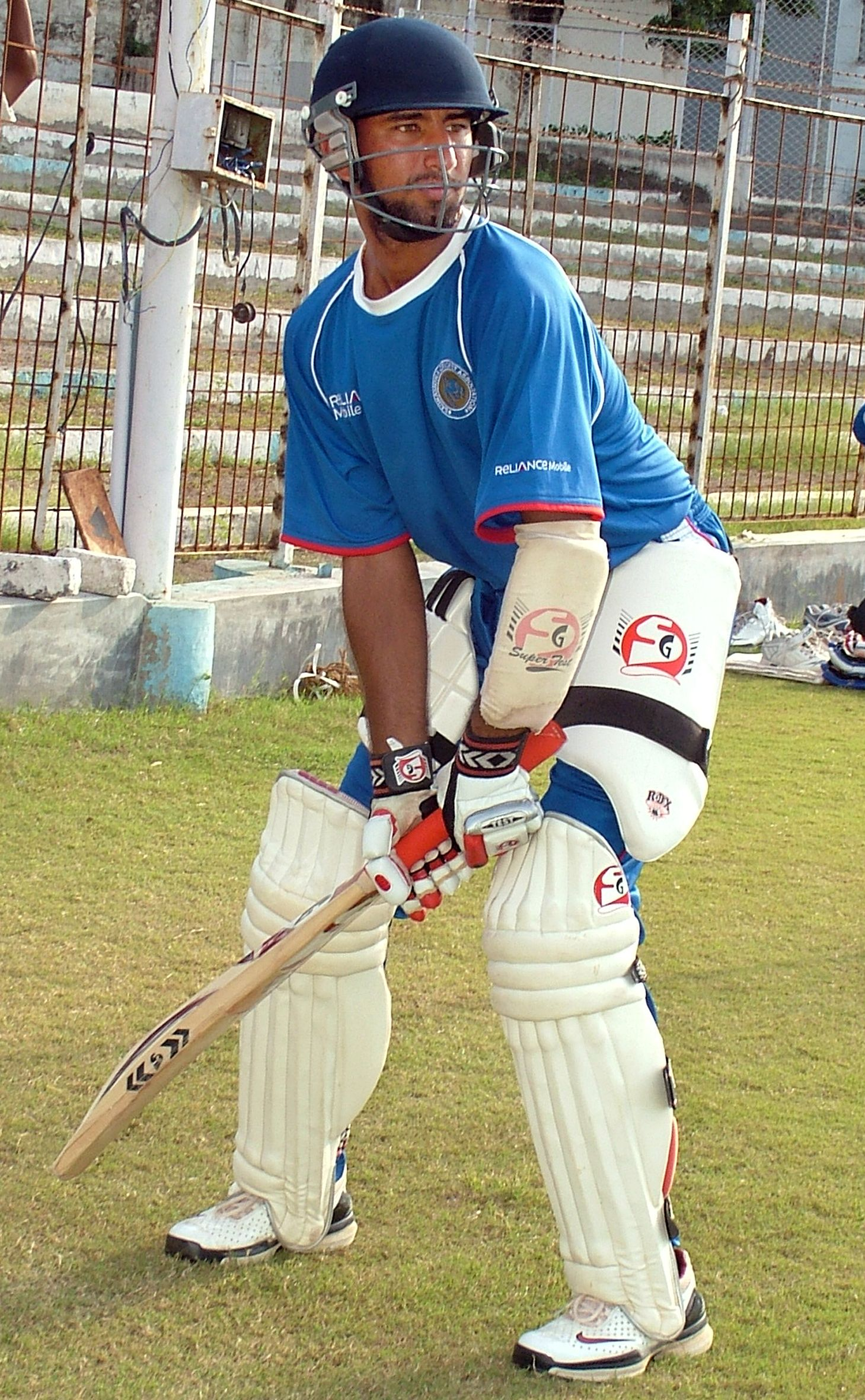 Cheteshwar Pujara in the nets