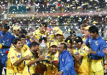 Chennai Super Kings after winning the 2010 Champions League T20