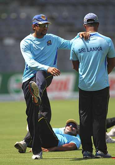 Sri Lanka's Tillakaratne Dilshan during a training session in Mumbai