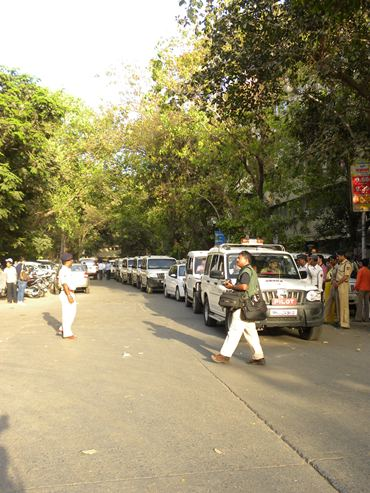 VIP cars outside the Wankhede