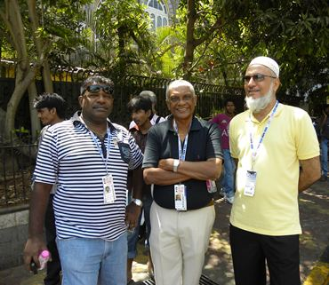 Sri Lankan selectors Ranjit Fernando, Amal Silva and Shabbir Asgerally