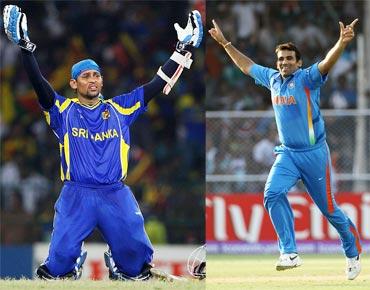 Zaheer Khan and Tillakaratne Dilshan