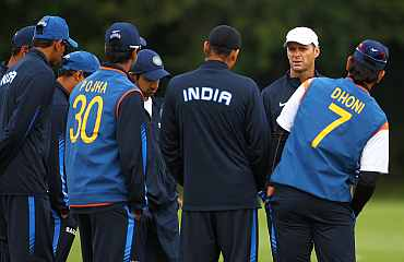 Gary Kirsten with Indian cricket team