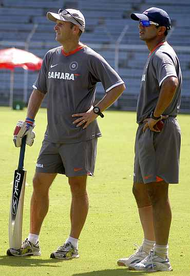 Gary Kirsten and Rahul Dravid