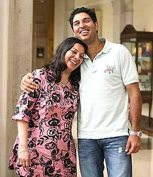 Shabnam Singh and Yuvraj Singh