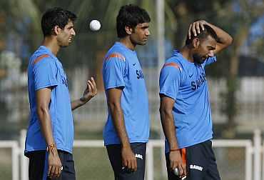 Ashish Nehra, Munaf Patel and Praveen Kumar
