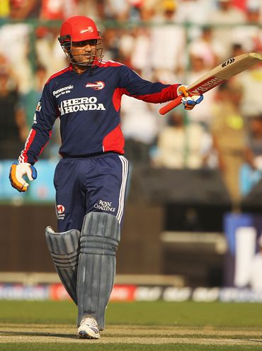 Sehwag in action at the last IPL