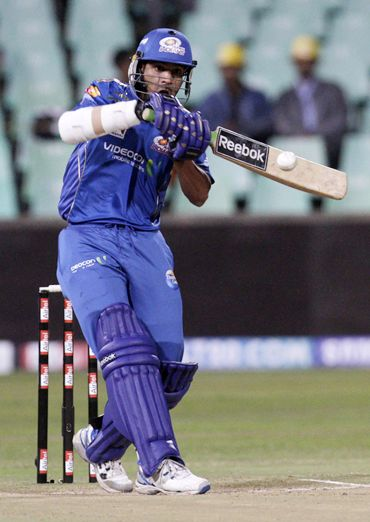 Deccan Chargers's opening batsman Shikhar Dhawan