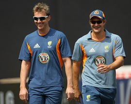 Brett Lee and Shane Watson