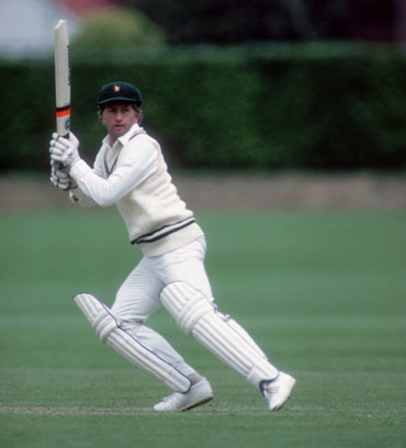 Duncan Fletcher, captain of Zimbabwe, batting during the 1983 WC