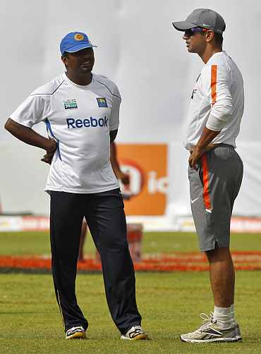 Muralitharan and Rahul Dravid