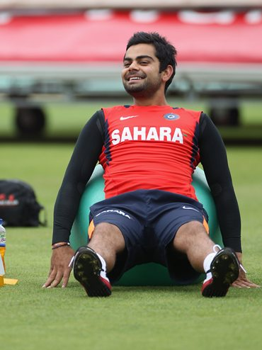Virat Kohli during training