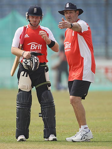 Graham Gooch with Ian Bell