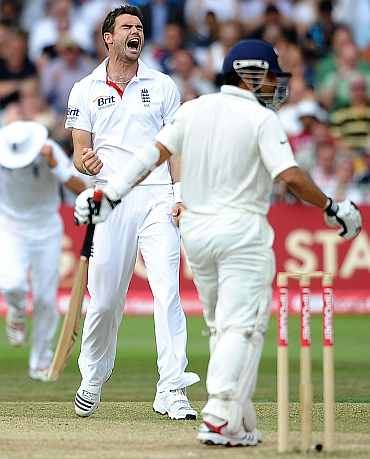Sahin Tendulkar and James Anderson