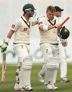 Phil Hughes and David Warner