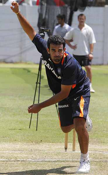 Zaheer stresses on achieving the right length to bowl