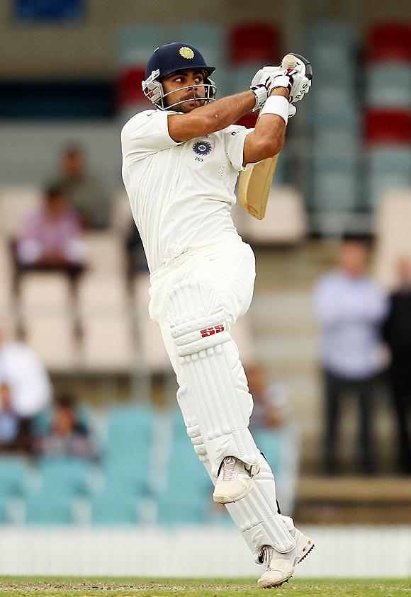 Virat Kohli in action against Cricket Australia Chairman's XI