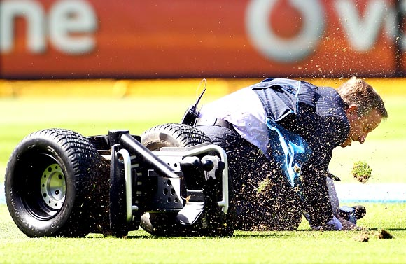 When Healy took a tumble at the MCG