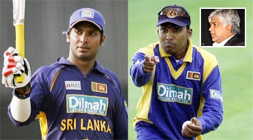Kumar Sangakkara (left) and Mahela Jayawardene